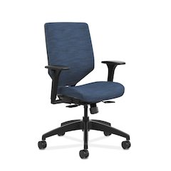 HON Solve Mid Back Task Chair | Upholstered Back | Midnight Fabric