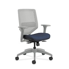 HON Solve Mid Back Task Chair | Reactiv Back | Midnight Fabric