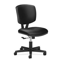 HON Volt Task Chair | Center-Tilt, Tension, Lock | Black SofThread Leather