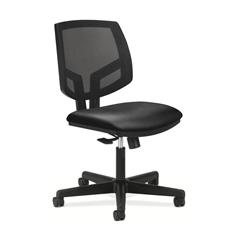 HON Volt Mesh Back Task Chair   Center-Tilt, Tension, Lock   Black SofThread Leather