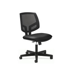 HON Volt Mesh Back Task Chair   Synchro-Tilt, Tension, Lock   Black SofThread Leather