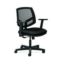 HON Volt Mesh Back Task Chair | Center-Tilt, Tension, Lock | Adjustable Arms | Black Fabric