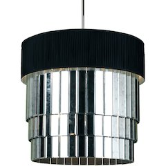 Garbo 6-Light Pendant- Black Shade