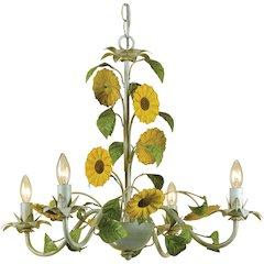 Kansas Sunflowers Chandelier