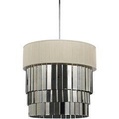 Garbo Six Light Pendant- Ivory