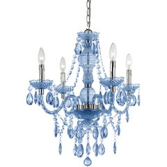 Naples Four Light Mini Chandelier- Light Blue