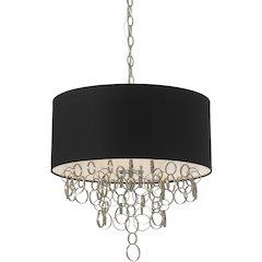 """Carnegie Pendant, 6-60W Standard Bulbs, 18.5""""HX18""""D, Hardwire Only"""