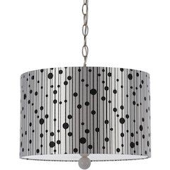 Drizzle Pendant- Silver Shade/White Finial