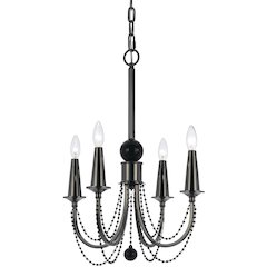 Shelby Metal Four Candle Base Chandelier