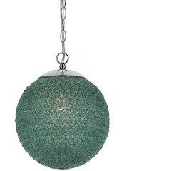 "Chloe Recycled Plastic Pendant, 1-40W Standard Bulb, 12.5""HX10D,"