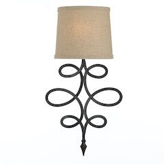 """Rhythm Sconce, 1-40W Candle Bulb, 21""""HX11""""WX4""""E, Hardwire Only"""
