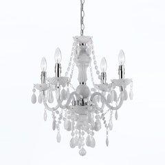Naples Four Light Mini Chandelier- White