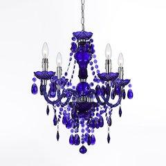 Naples Four-Light Mini Chandelier - Purple