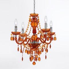 Naples Four-Light Mini Chandelier- Orange