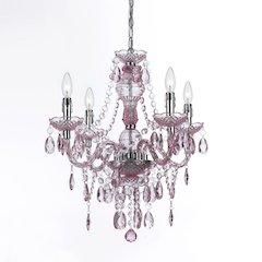 Naples Four-Light Mini Chandelier - Pink