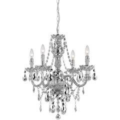 Naples Four-Light Mini Chandelier - Silver