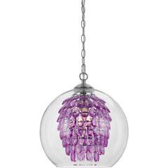 Glitzy Chandelier- Purple