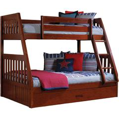 Stanford Twin/Full Bed -T/B Ups,Rails,Slats,Guards,Ladder,TwinTrundle