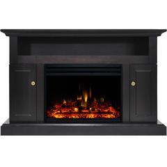 "47.2""x15.7""x30.7"" Sorrento Fireplace Mantel w/Deep & Enhanced Log Insert"