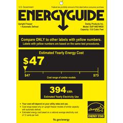 13.8 Cu.Ft. Upright Freezer, Automatic Defrost, Electronic Thermostat