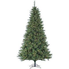 6.5 Ft. Canyon Pine Christmas Tree with Clear LED Lighting