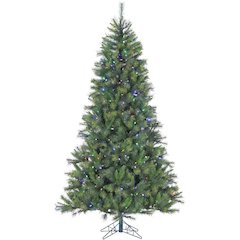 7.5 Ft. Canyon Pine Christmas Tree with Multi-Color LED String Lighting