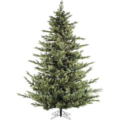 9 Ft. Foxtail Pine Christmas Tree with Multi-Color LED String Lighting