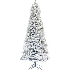 7.5 Ft. Hillside Slim Flocked Pine Christmas Tree