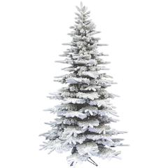 7.5 Ft. Flocked Mountain Pine Christmas Tree