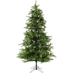 7.5 Ft. Noble Fir Christmas Tree with Smart String Lighting