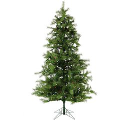 7.5 Ft. Noble Fir Pine Christmas Tree with Multi-Color LED String Lighting