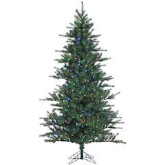 6.5 Ft. Southern Peace Pine Christmas Tree with Multi-Color LED String Lighting