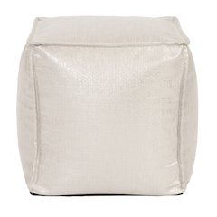 Square Pouf Glam Sand