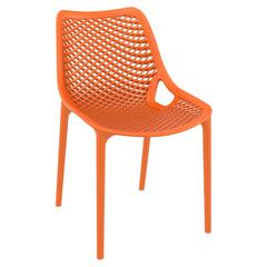 Air Outdoor Dining Chair Orange, Set of 2