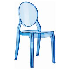 Baby Elizabeth Kids Chair Transparent Blue