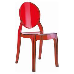Baby Elizabeth Kids Chair Transparent Red
