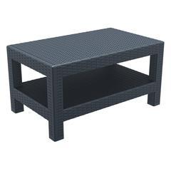 Monaco Rectangle Patio Coffee Table Dark Gray