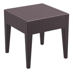Miami Square Resin Side Table Brown
