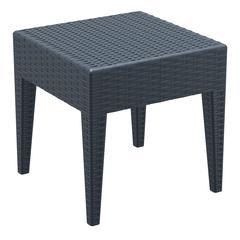Miami Square Resin Side Table Dark Gray