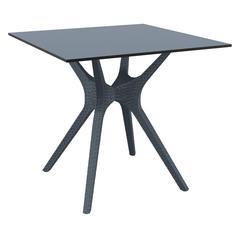 Ibiza Square Table 31 inch Dark Gray