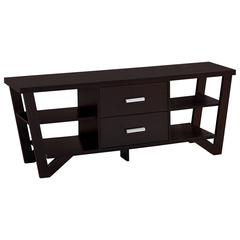 """Tv Stand - 60""""L / Cappuccino With 2 Storage Drawers"""
