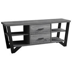 """Tv Stand - 60""""L / Grey-Black With 2 Storage Drawers"""