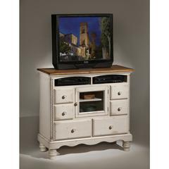 Wilshire TV Chest, Antique White
