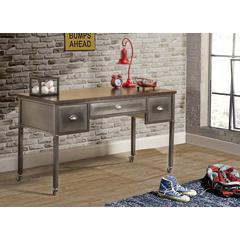 Urban Quarters Desk , Black Steel with Antique Cherry