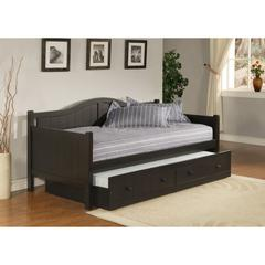Staci Daybed w/Trundle - Black, Black