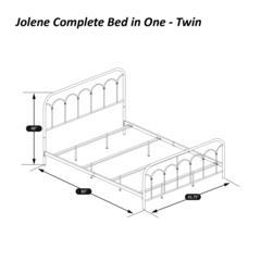 Jolene Twin Bed, Textured Black
