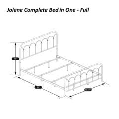 Jolene Full Bed, Textured Black