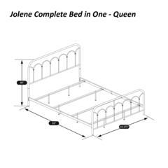 Jolene Queen Bed, Textured Black