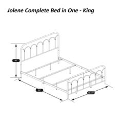 Jolene King Bed, Textured Black
