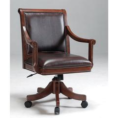 Palm Springs Caster Game Chair, Medium Brown Cherry